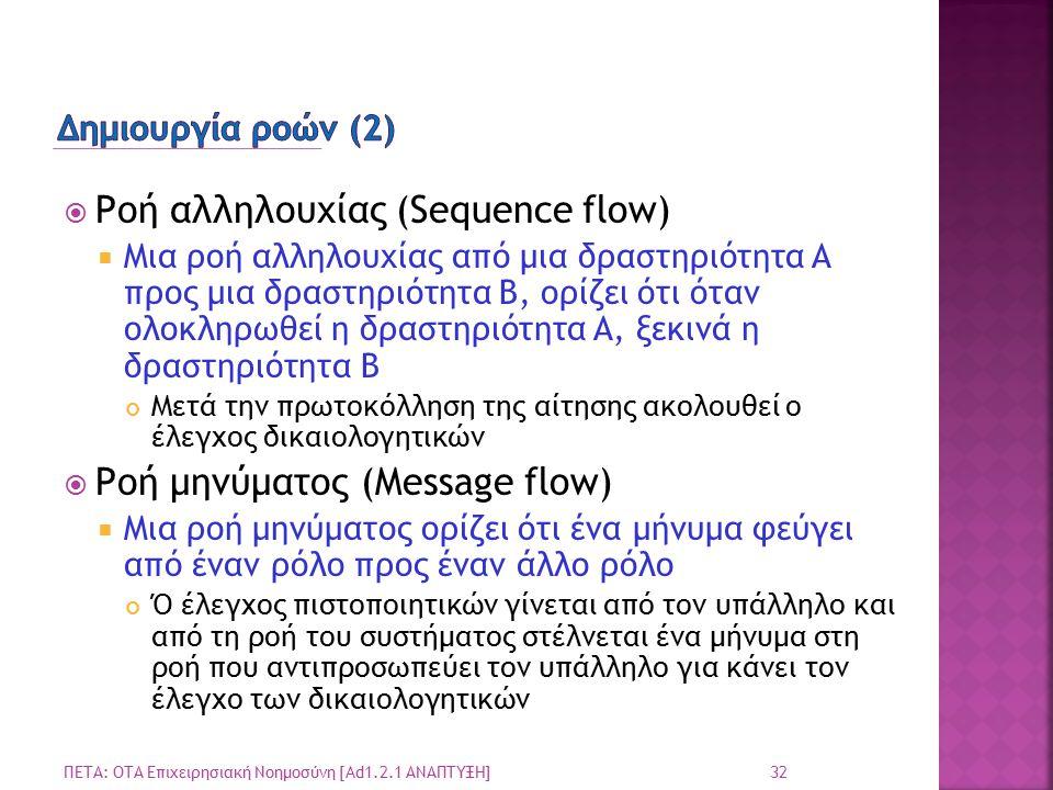 Ροή αλληλουχίας (Sequence flow)