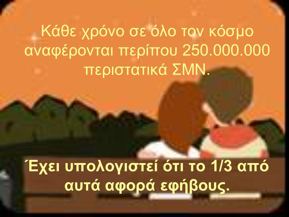 Κάθε χρόνο σε όλο τον κόσμο αναφέρονται περίπου 250. 000