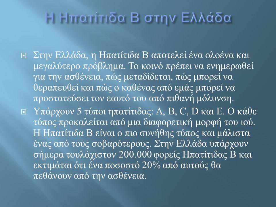 Η Ηπατίτιδα Β στην Ελλάδα
