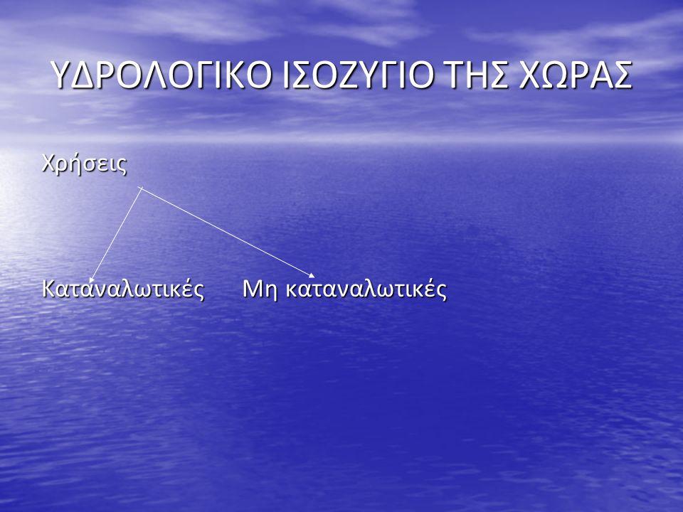 ΥΔΡΟΛΟΓΙΚΟ ΙΣΟΖΥΓΙΟ ΤΗΣ ΧΩΡΑΣ