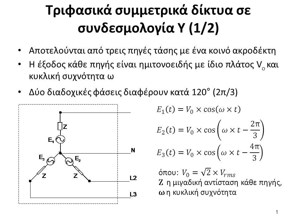 Τριφασικά συμμετρικά δίκτυα σε συνδεσμολογία Υ (2/2)