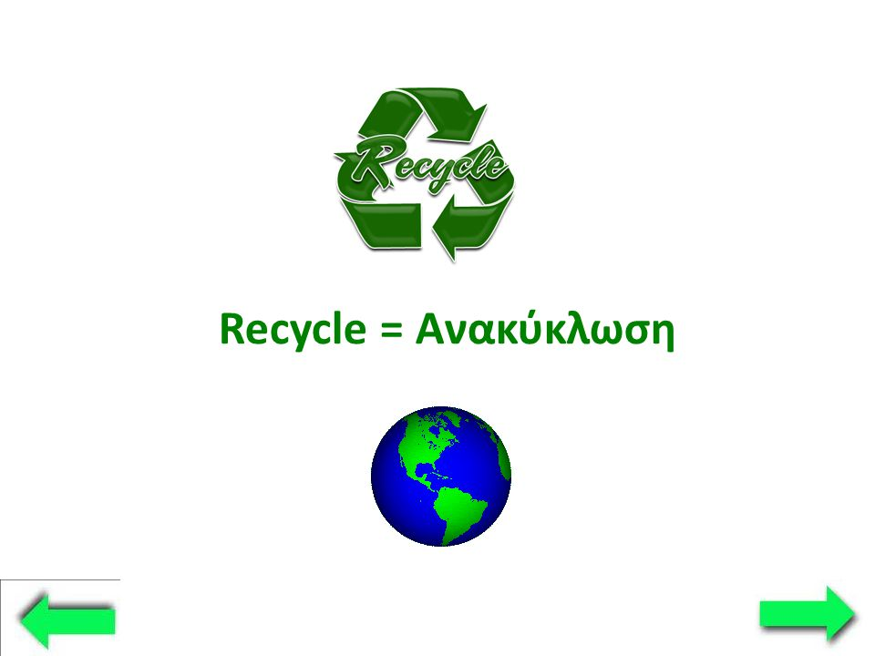 Recycle = Ανακύκλωση
