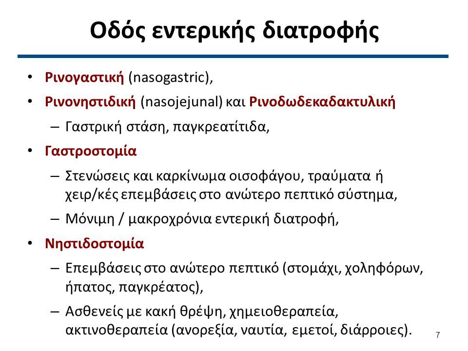 Γαστροστομία & Νηστιδοστομία