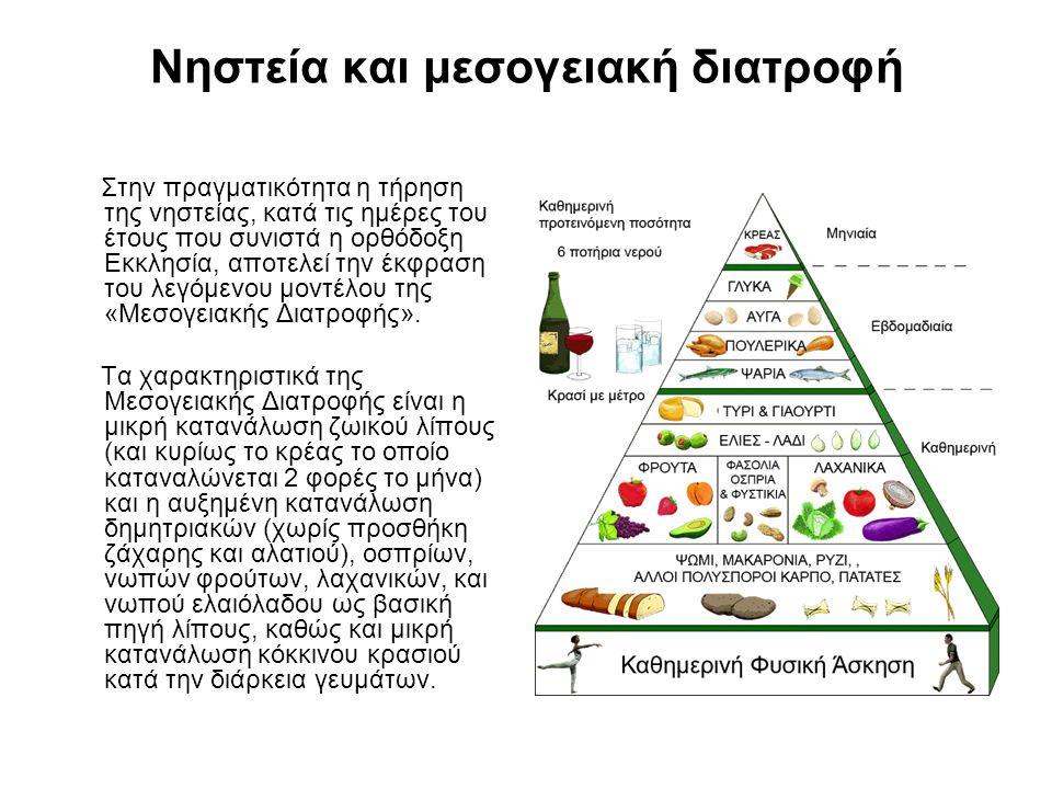 Νηστεία και μεσογειακή διατροφή