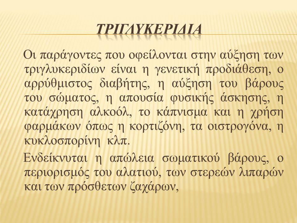 Τριγλυκεριδια