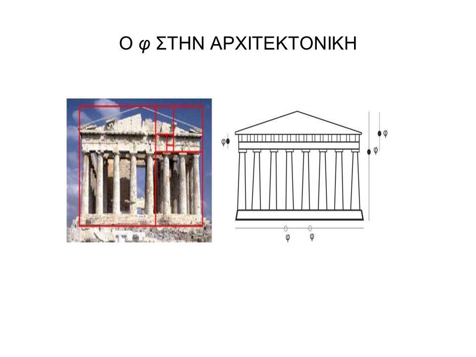 Ο φ ΣΤΗΝ ΑΡΧΙΤΕΚΤΟΝΙΚΗ