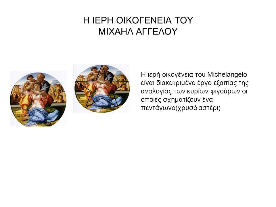 Η ΙΕΡΗ ΟΙΚΟΓΕΝΕΙΑ ΤΟΥ MΙΧΑΗΛ ΑΓΓΕΛΟΥ