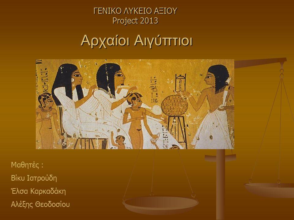 ΓΕΝΙΚΟ ΛΥΚΕΙΟ ΑΞΙΟΥ Project 2013
