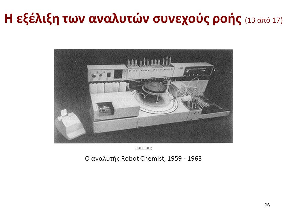 H εξέλιξη των αναλυτών συνεχούς ροής (14 από 17)