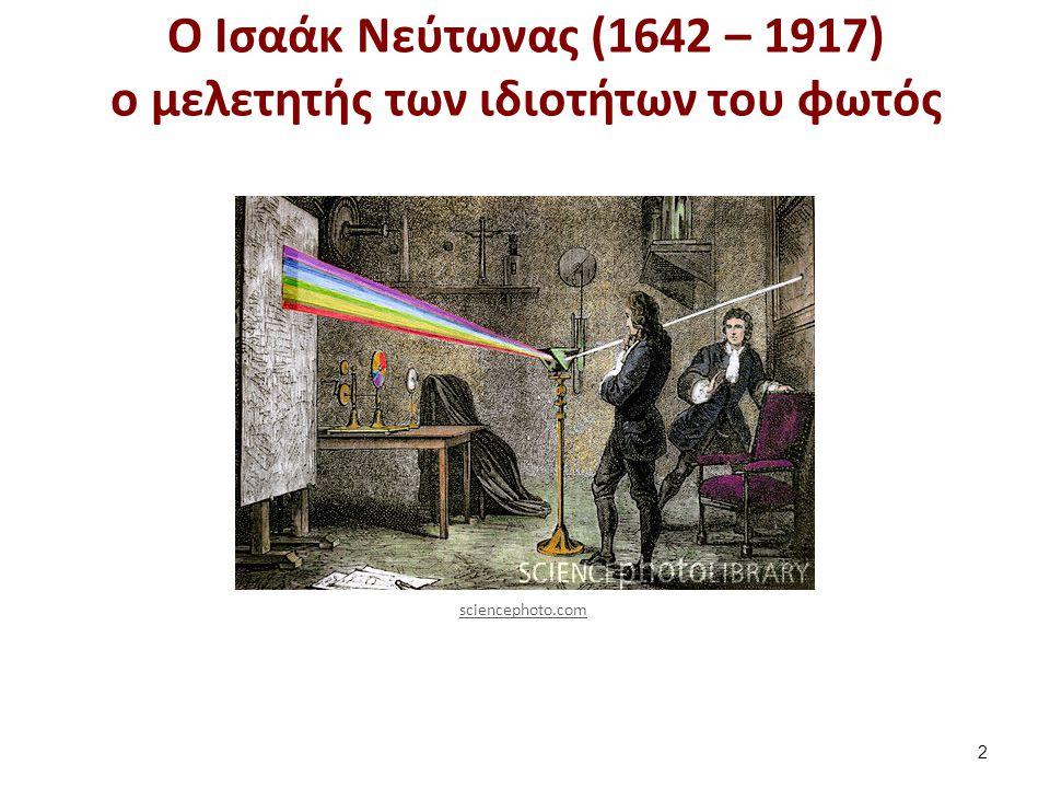 Ο Νεύτωνας ανακάλυψε το πρίσμα και την διάθλαση του φωτός