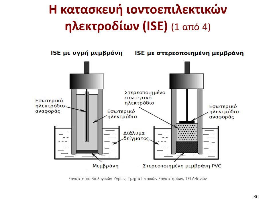 Η κατασκευή ιοντοεπιλεκτικών ηλεκτροδίων (ISE) (2 από 4)