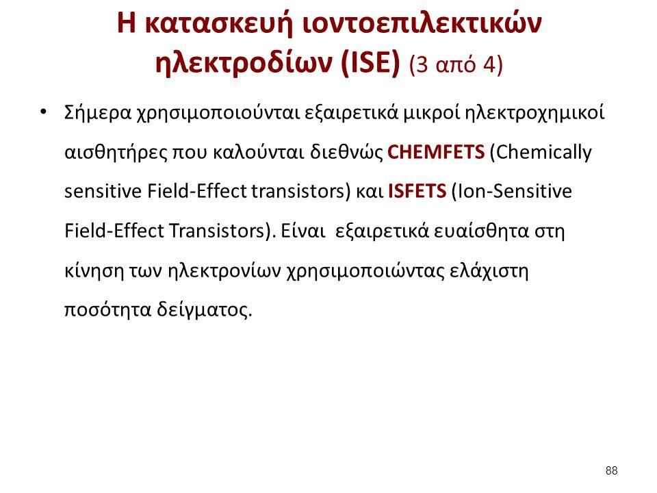 Η κατασκευή ιοντοεπιλεκτικών ηλεκτροδίων (ISE) (4 από 4)