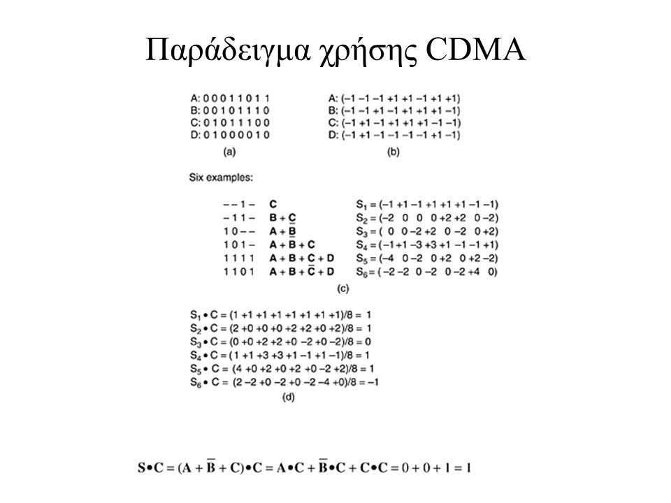 Παράδειγμα χρήσης CDMA