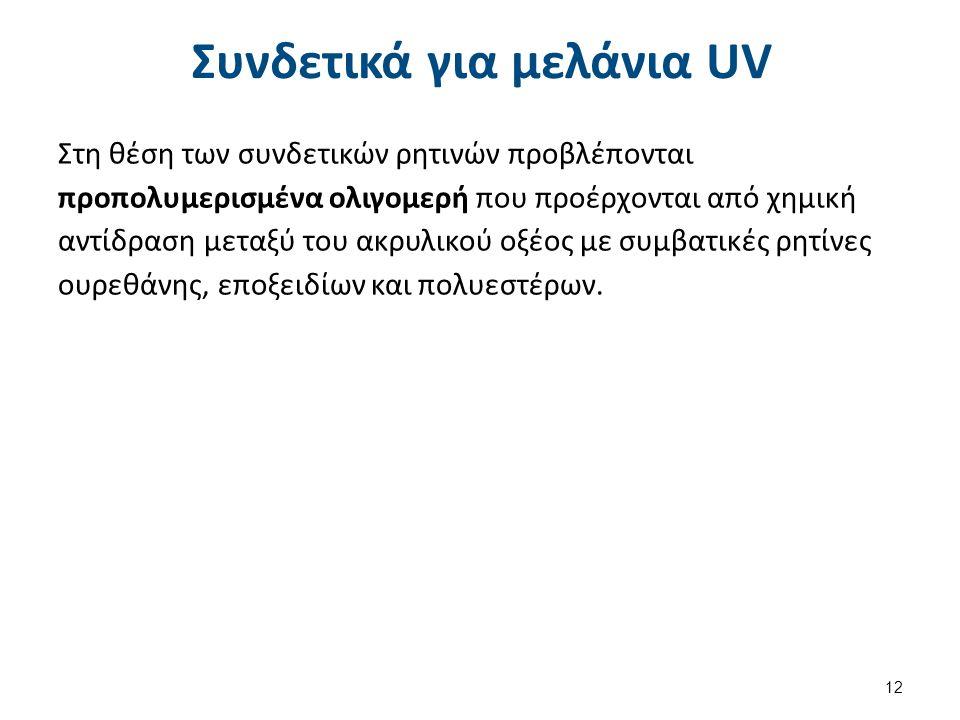 Καταλύτες πολυμερισμού με UV