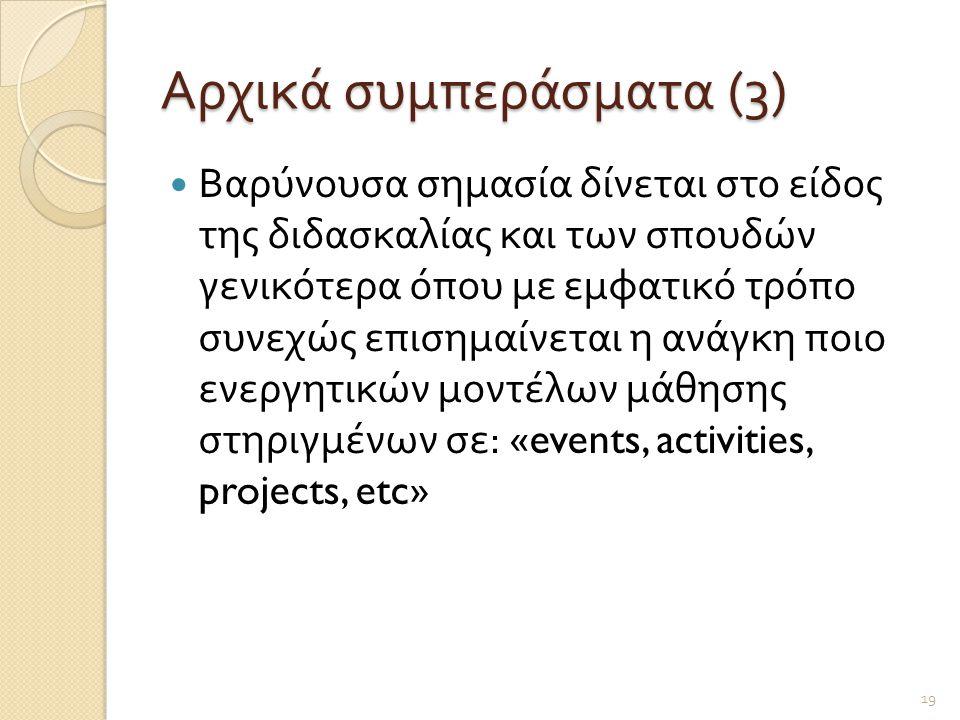 Αρχικά συμπεράσματα (3)