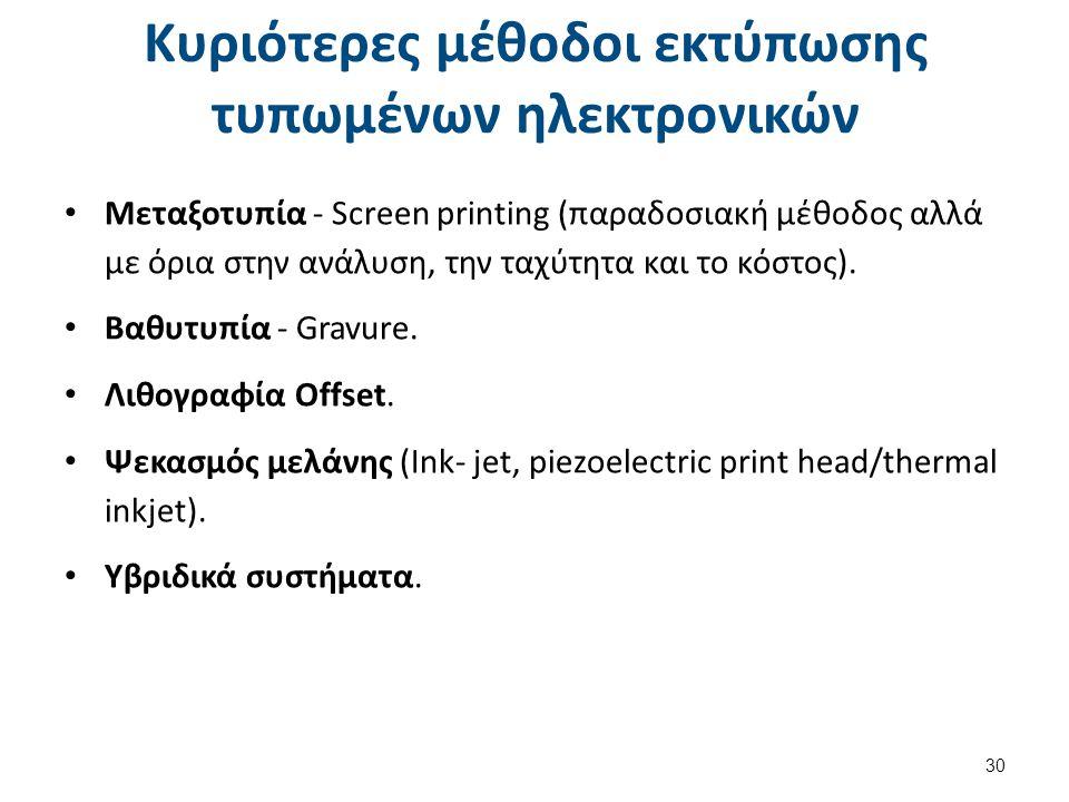 Γενικά χαρακτηριστικά των εκτυπωτικών μεθόδων