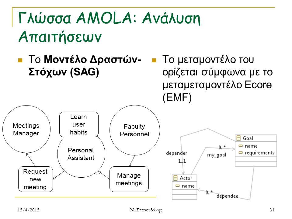 Γλώσσα AMOLA: Ανάλυση Απαιτήσεων