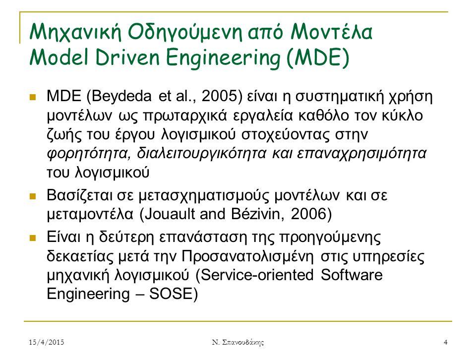 Μηχανική Οδηγούμενη από Μοντέλα Model Driven Engineering (MDE)