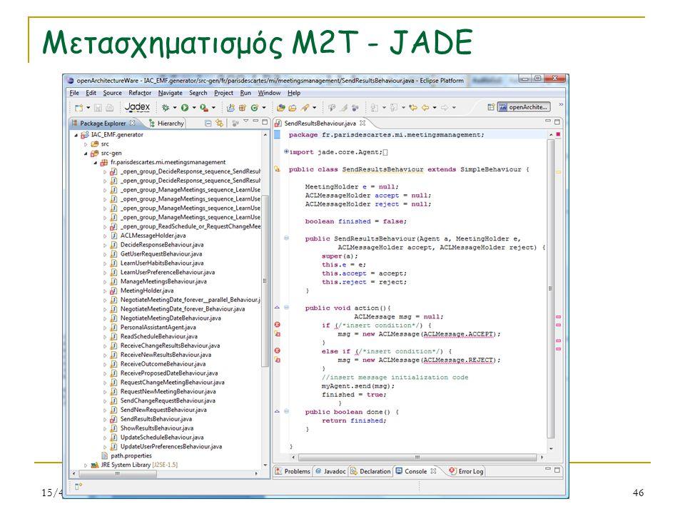 Μετασχηματισμός M2T - JADE