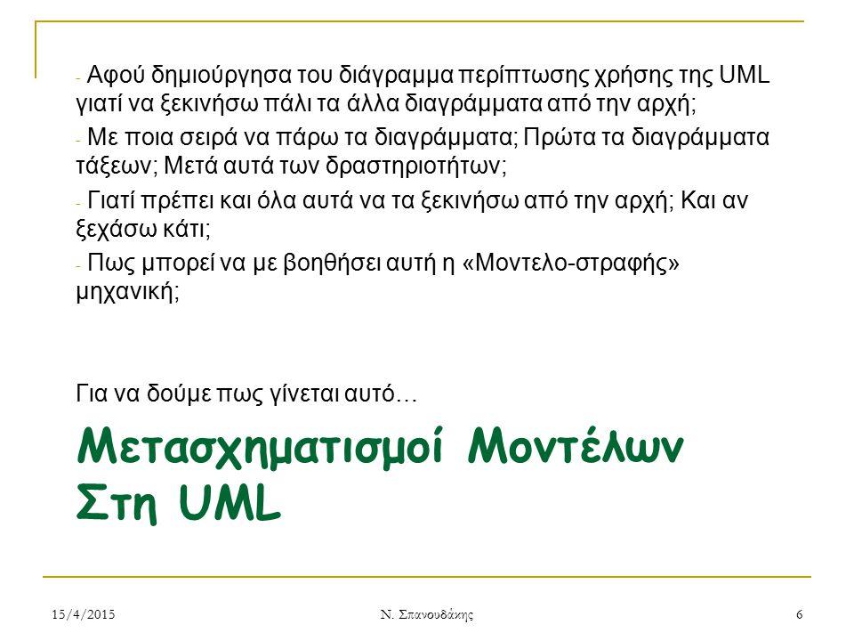 Μετασχηματισμοί Μοντέλων Στη UML