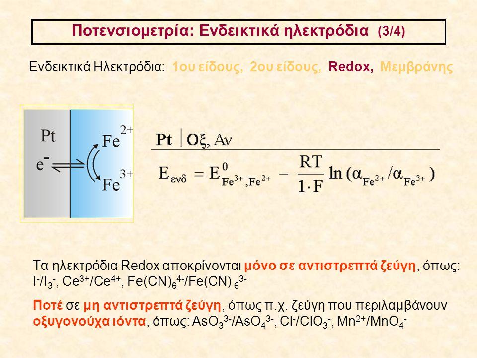 Ποτενσιομετρία: Ενδεικτικά ηλεκτρόδια (3/4)
