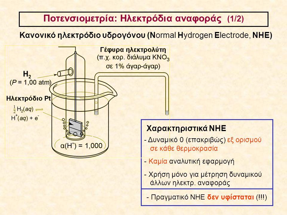 Ποτενσιομετρία: Ηλεκτρόδια αναφοράς (1/2)