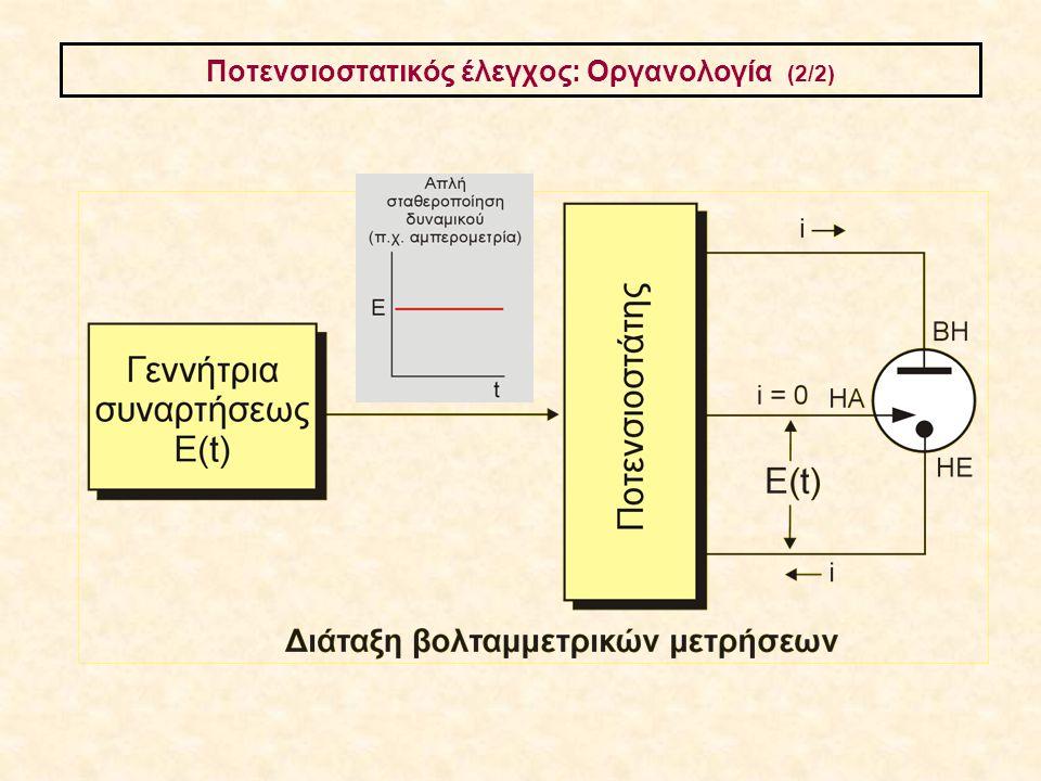 Ποτενσιοστατικός έλεγχος: Οργανολογία (2/2)