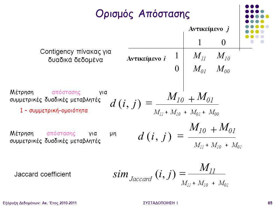 Μ01 Μ10 + d ( i , j ) = Μ01 Μ10 + d ( i , j ) = Μ11 sim ( i , j ) =