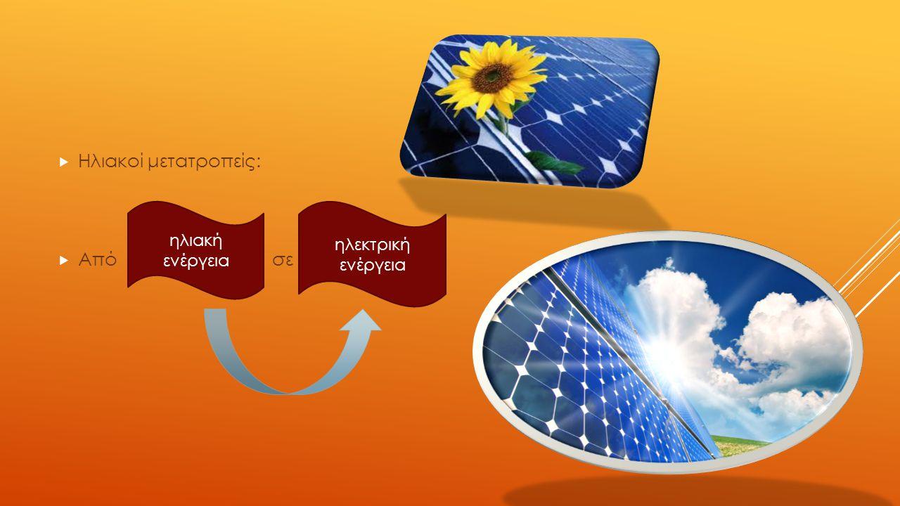 Ηλιακοί μετατροπείς: Από σε ηλιακή ενέργεια ηλεκτρική ενέργεια