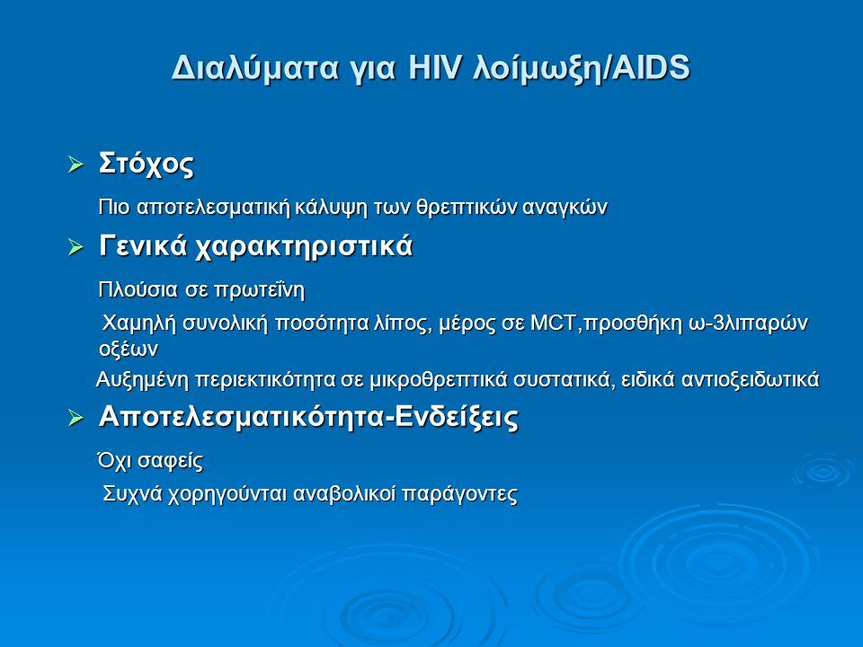 Διαλύματα για HIV λοίμωξη/AIDS