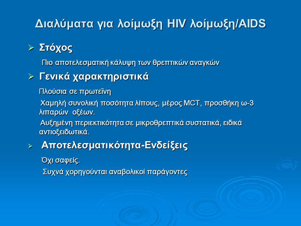 Διαλύματα για λοίμωξη HIV λοίμωξη/AIDS