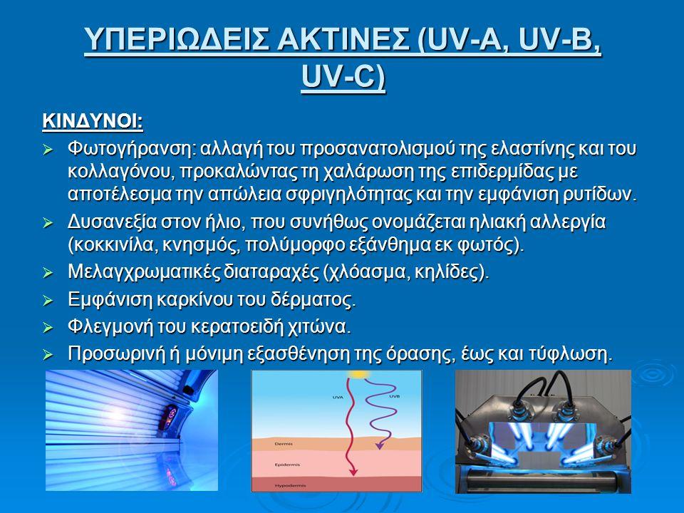 ΥΠΕΡΙΩΔΕΙΣ ΑΚΤΙΝΕΣ (UV-A, UV-B, UV-C)