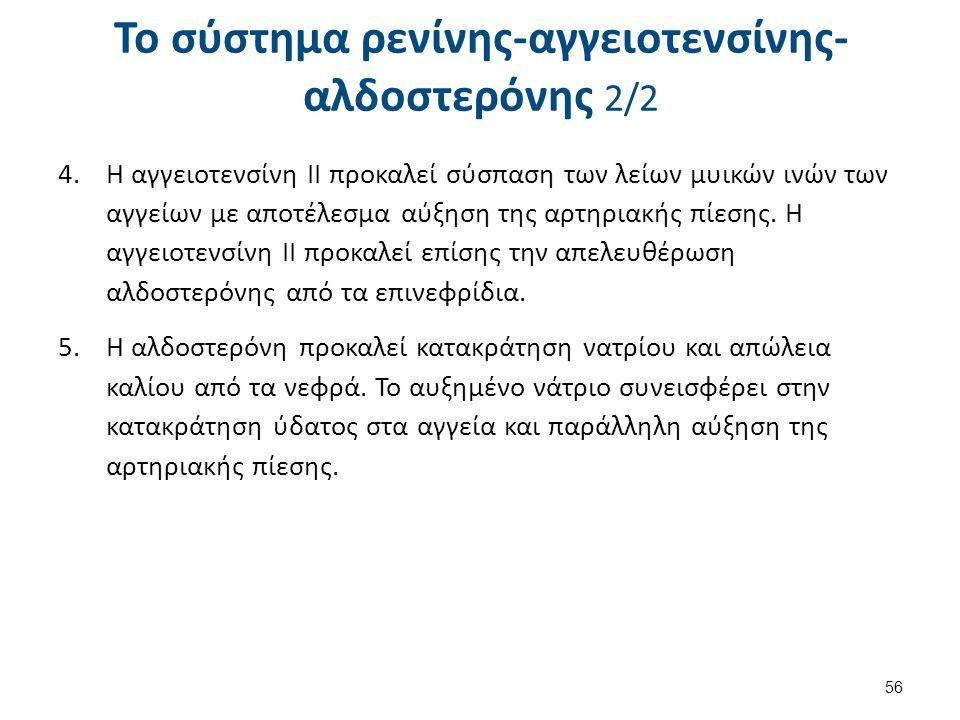 Δράση αγγειοτενσίνης Συστηματική αγγειοσύσπαση.