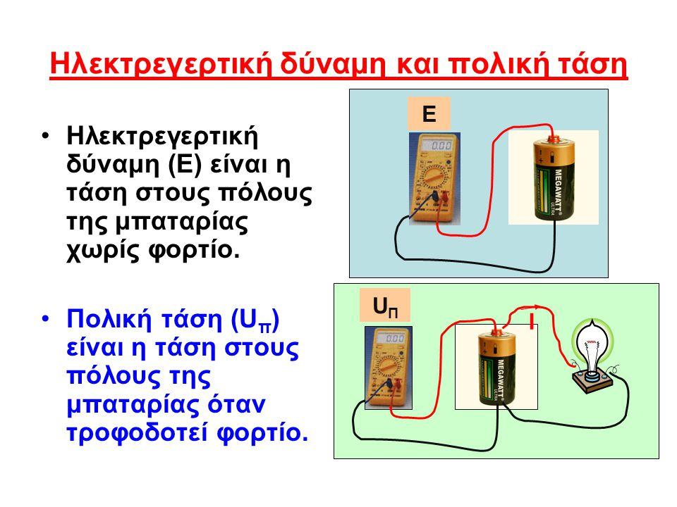 Ηλεκτρεγερτική δύναμη και πολική τάση
