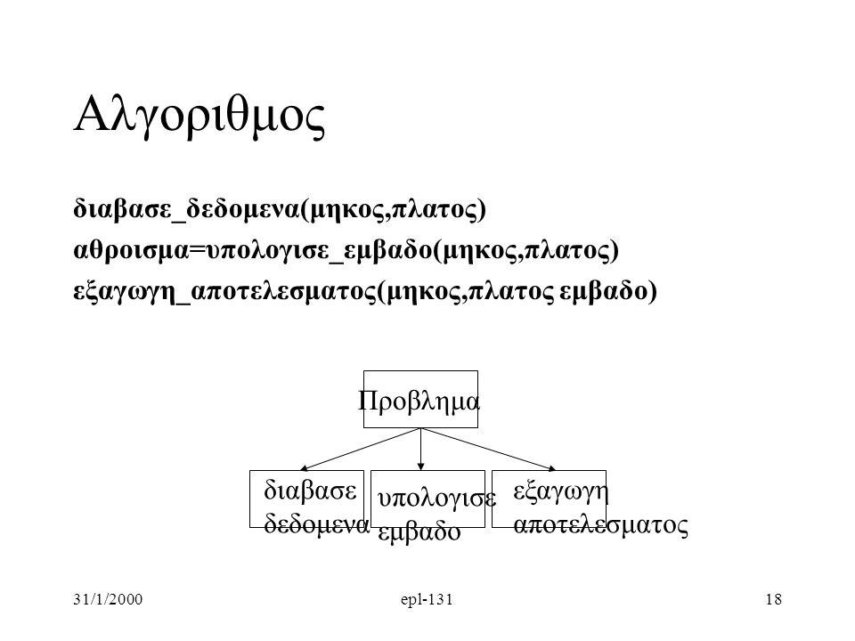 Αλγοριθμος διαβασε_δεδομενα(μηκος,πλατος)