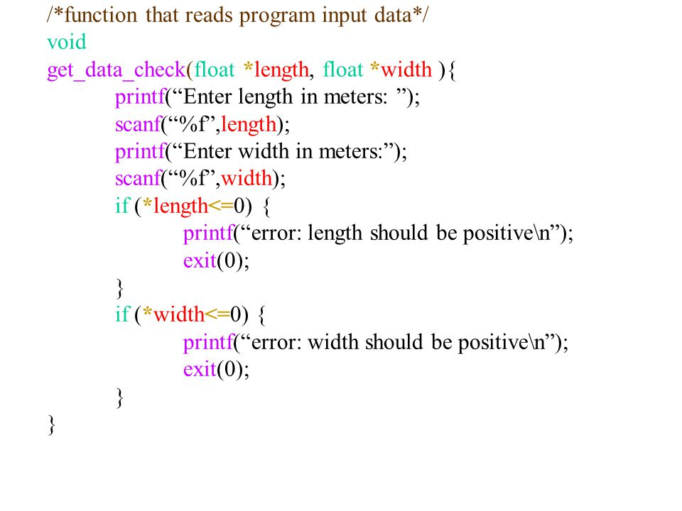 /*function that reads program input data*/