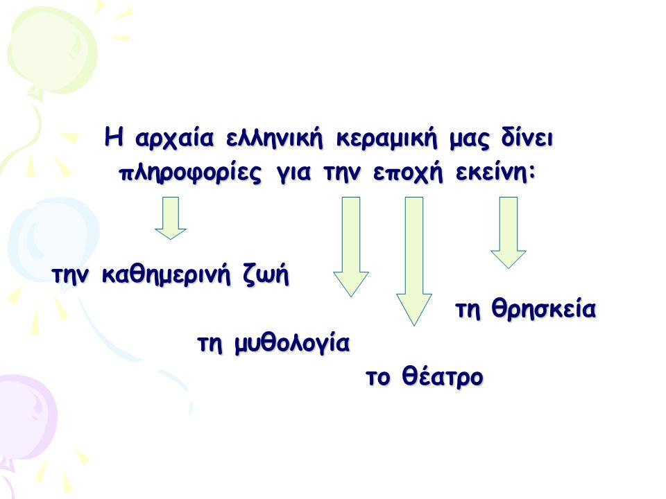 Η αρχαία ελληνική κεραμική μας δίνει