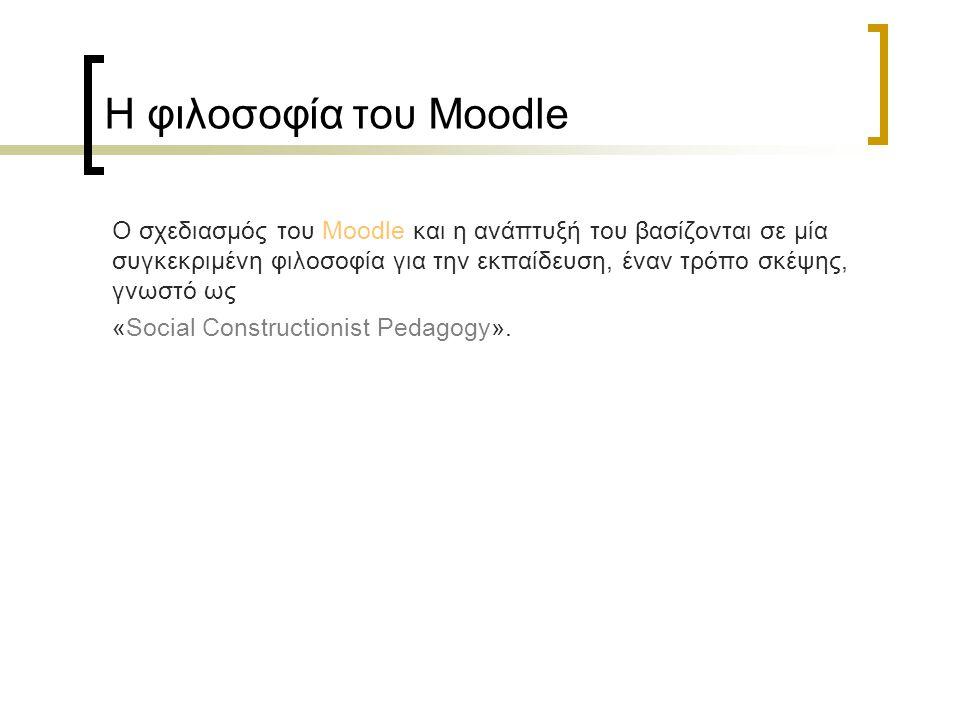 Η φιλοσοφία του Moodle