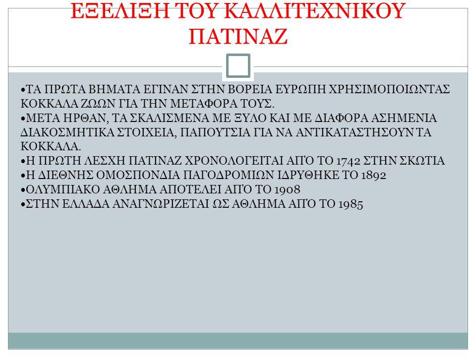 ΕΞΕΛΙΞΗ ΤΟΥ ΚΑΛΛΙΤΕΧΝΙΚΟΥ ΠΑΤΙΝΑΖ