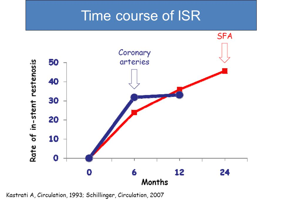 Time course of ISR
