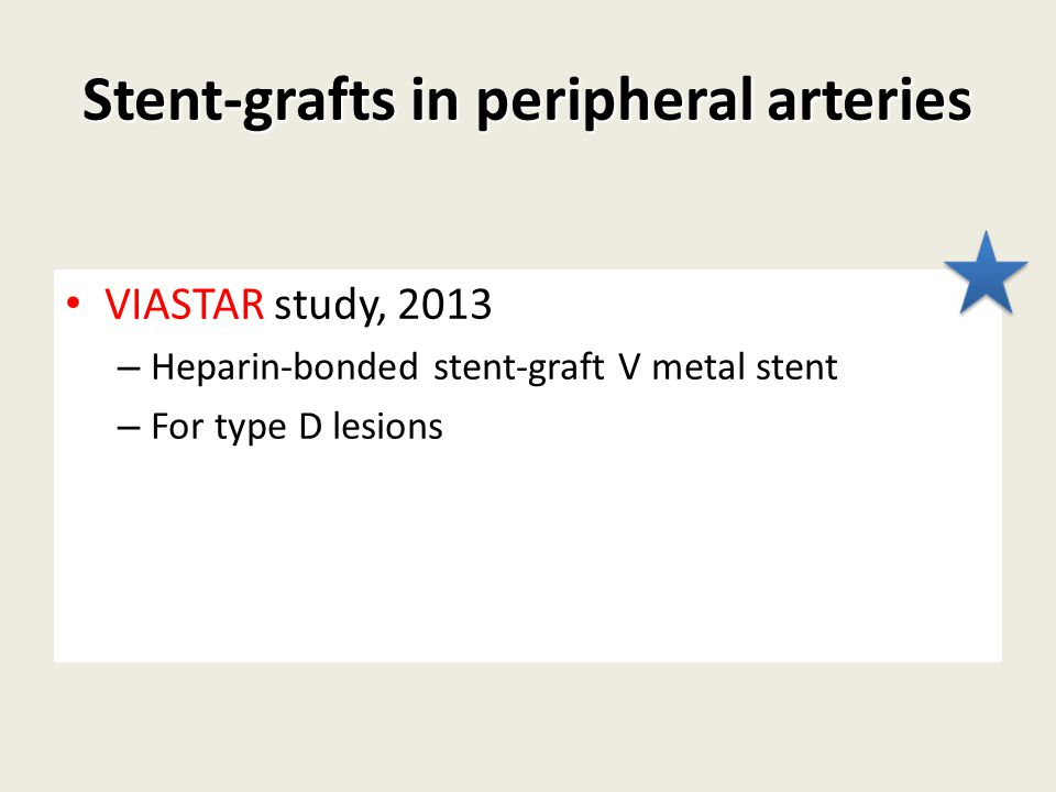Stent-grafts in peripheral arteries