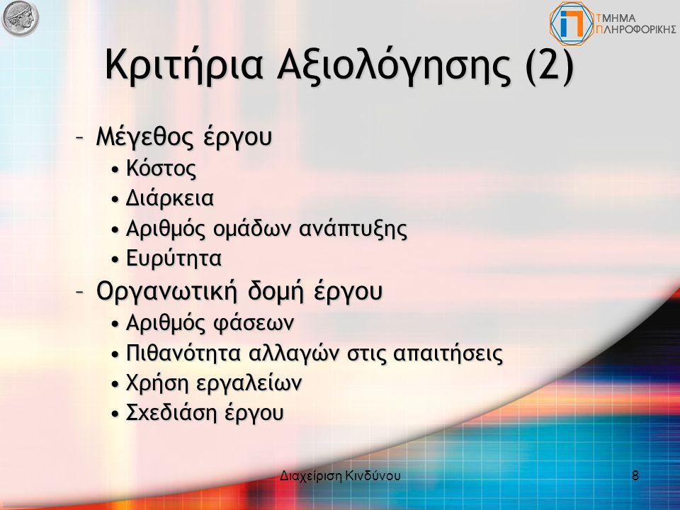 Κριτήρια Αξιολόγησης (2)