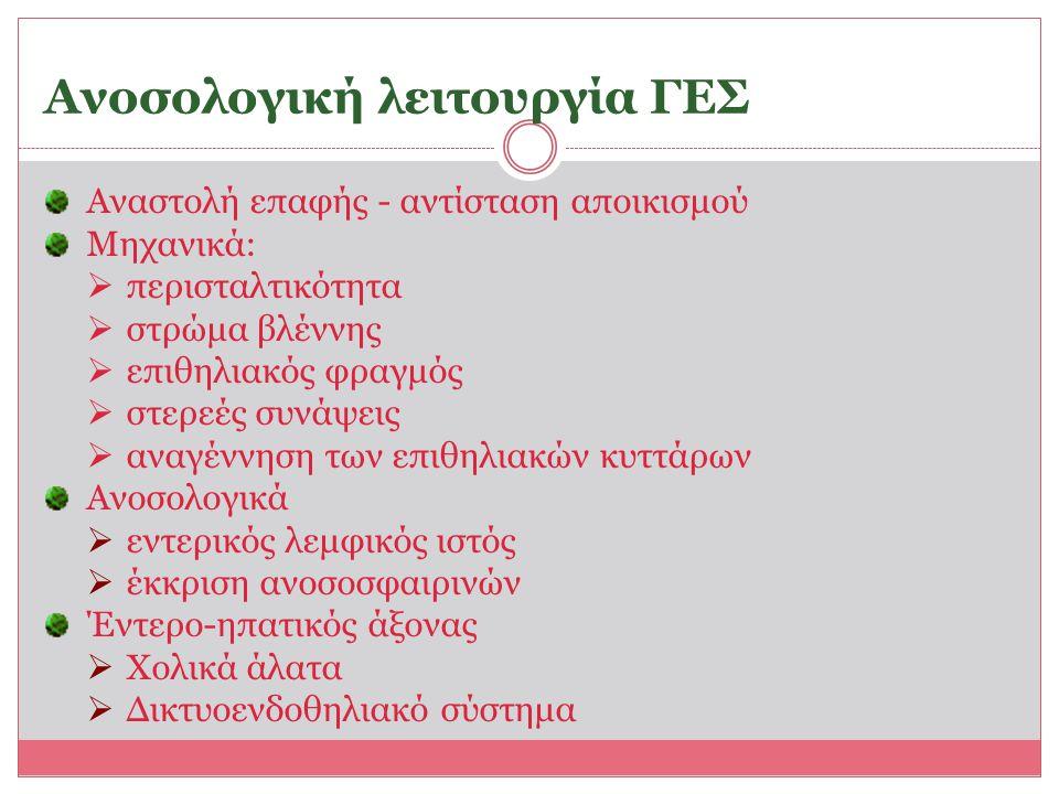Ανοσολογική λειτουργία ΓΕΣ