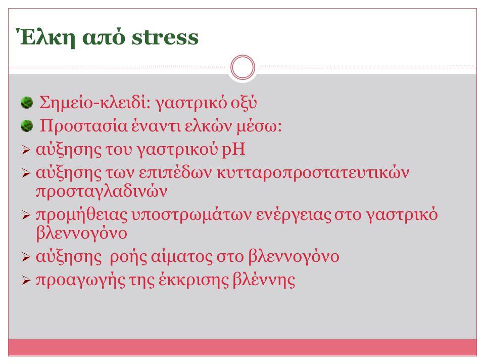 Έλκη από stress Σημείο-κλειδί: γαστρικό οξύ