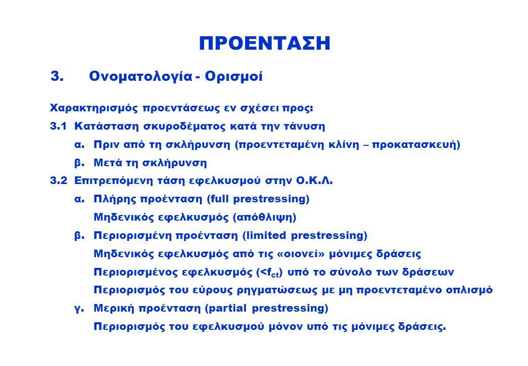 ΠΡΟΕΝΤΑΣΗ 3. Ονοματολογία - Ορισμοί