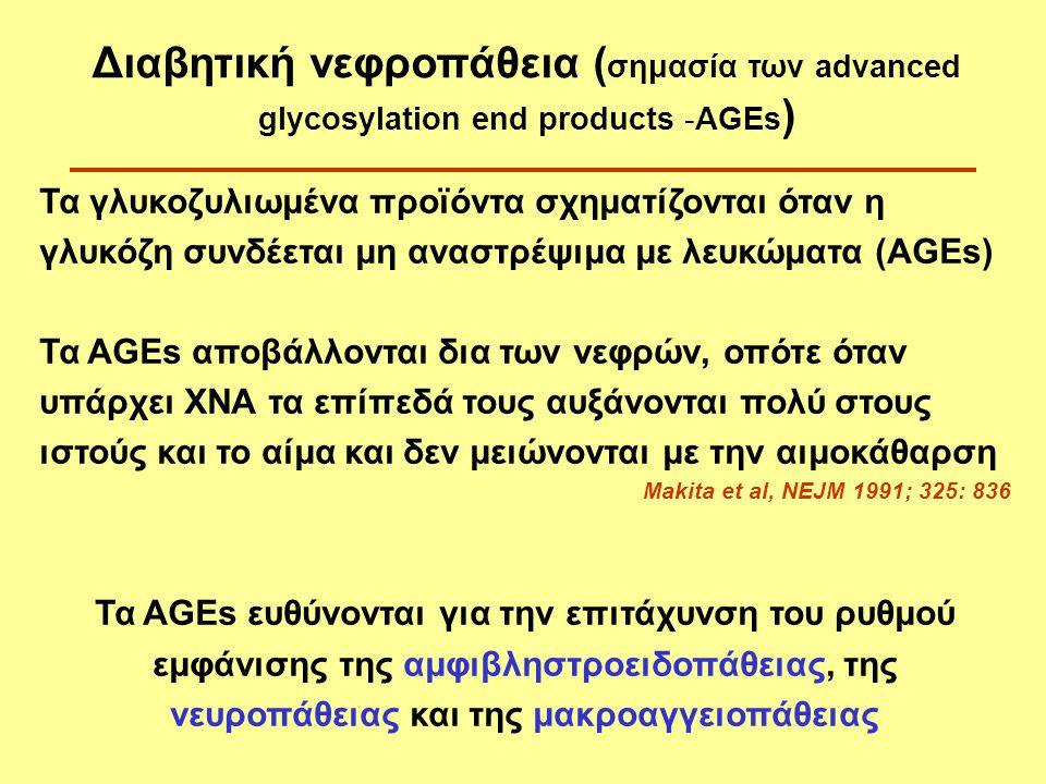 Διαβητική νεφροπάθεια (σημασία των advanced glycosylation end products -AGEs)