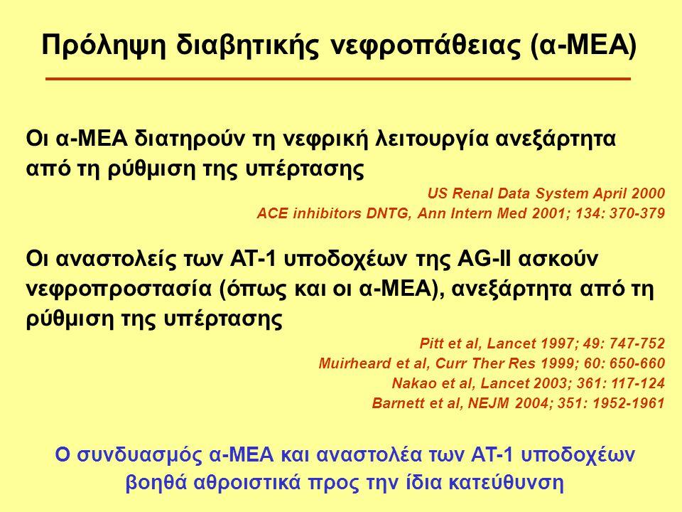 Πρόληψη διαβητικής νεφροπάθειας (α-ΜΕΑ)