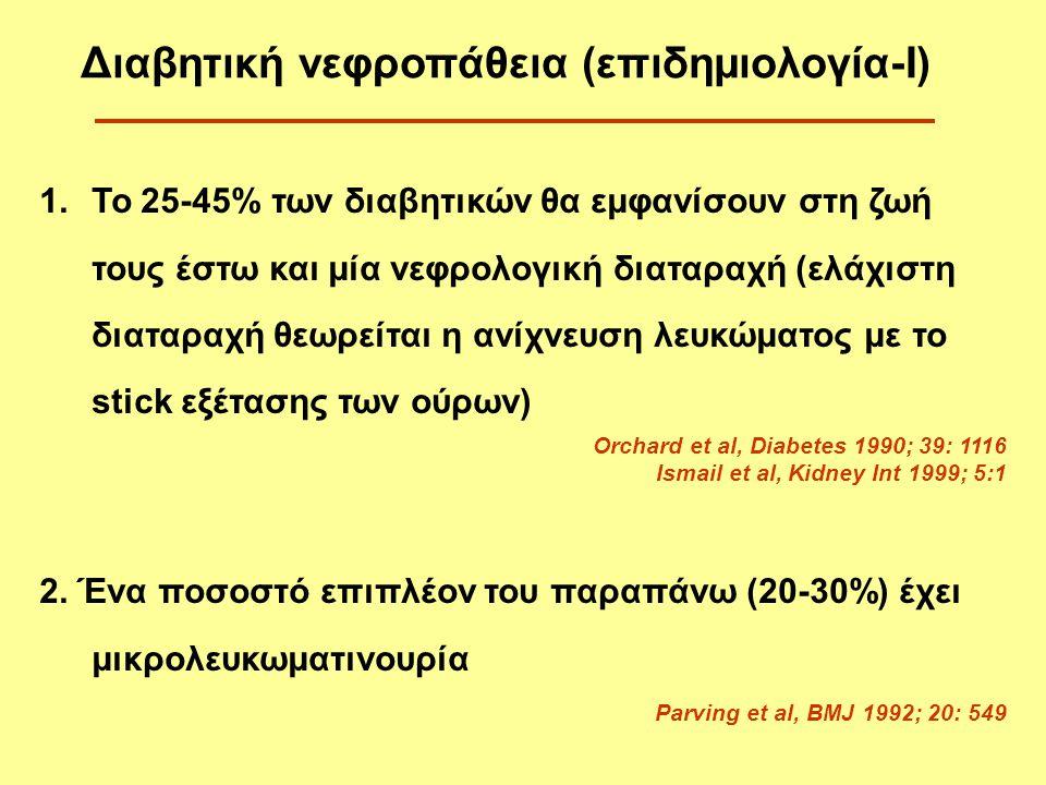 Διαβητική νεφροπάθεια (επιδημιολογία-Ι)