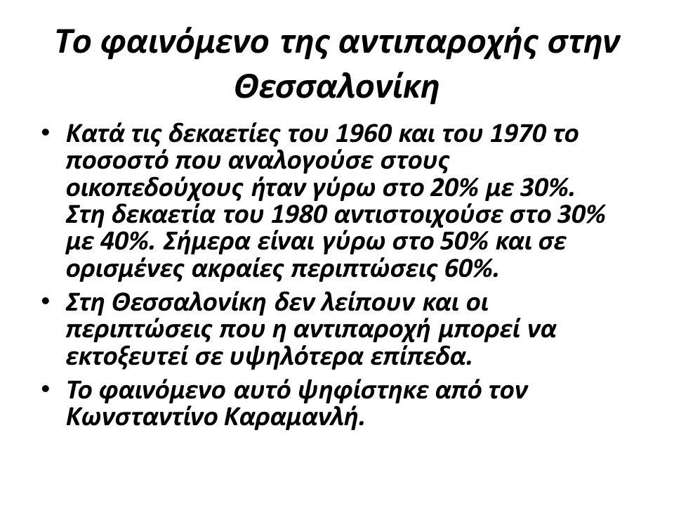 Tο φαινόμενο της αντιπαροχής στην Θεσσαλονίκη