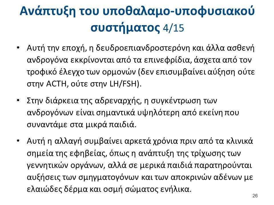 Ανάπτυξη του υποθαλαμο-υποφυσιακού συστήματος 5/15